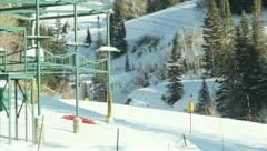 Ski Lift Snowboarding Ramp Snow Winter 35 - stock footage