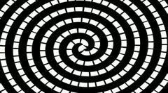 Optical Illusion - Moving Circles-Hypnotic Spiral Stock Footage
