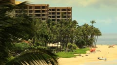 Tropical Beach Resort Paradise (HD) - stock footage