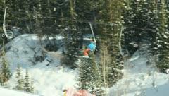 Ski Lift Snowboarding Ramp Snow Winter 37 - stock footage