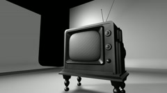 Retro Television In Studio Setting - stock footage