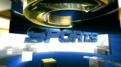 Sports Report Graphic Animation Stock Footage