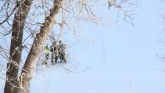 Ski Lift Snowboarding Ramp Snow Winter 40 - stock footage