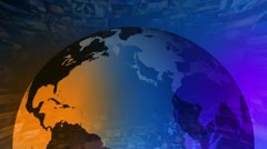 News Update - Broadcast Graphics Title Animation - stock footage