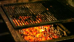 Charcoal BBQ Stock Footage
