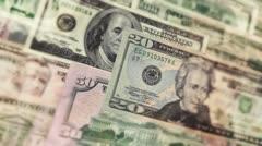 U.S. Money In Motion Stock Footage