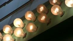 Flashing Light Bulbs - stock footage