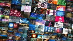 Video Walls 3D Montage (Loop) Stock Footage