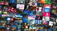 Stock Video Footage of video walls 3d montage (loop)