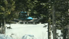 Ski Lift Snowboarding Ramp Snow Winter 45 - stock footage