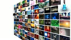 Video Wall Media Streaming Stock Footage