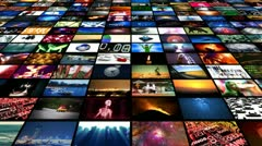 Stock Video Footage of Video Wall Media Streaming (Animation)