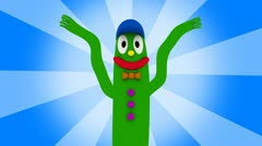 Wacky Inflatable Tube Guy Stock Footage