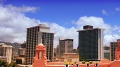 Time-Lapse Waikiki Skyline Stock Footage