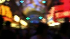 Defocused Las Vegas Casino Lights Stock Footage
