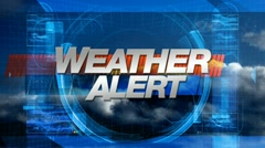 Weather Alert - Broadcast Graphics Title Stock Footage