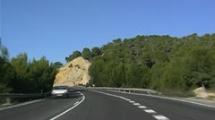 Mallorca highway Stock Footage