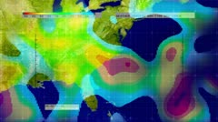 Weather Radar Digital Satellite Map (Midwest - Southeast USA) Animation - stock footage