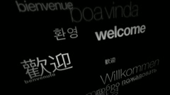 Welcome, International Languages (Text Animation) - stock footage
