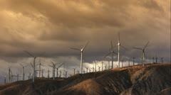 Wind Power Turbines (Sunset) HD Stock Footage
