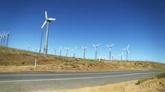 Wind Turbines And Traffic HD Stock Footage