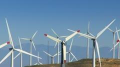 Wind Power Turbines (Alternative Energy) - stock footage
