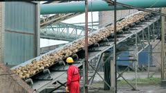 Sugar Refinery Worker Stock Footage