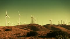 Stock Video Footage of Wind Power Turbines
