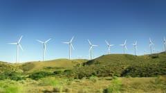 Wind Power Turbines Stock Footage