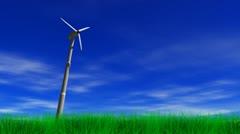 Wind Power Energy Turbine - stock footage