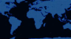 LED World Map (Loop) Stock Footage
