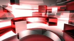 Abstract 3D Curves Animated Background - stock footage