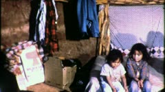 Navajo Indian Children Reservation 1960s Vintage Documentary Film Footage 1528 - stock footage