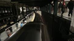 Subway Passing Below Stock Footage