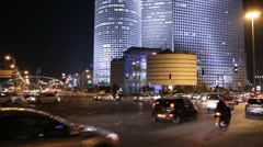 Tel Aviv at nigh - stock footage