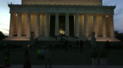 Lincoln Memorial, zoom to wide shot. Low Rez preview is darker than actual. Stock Footage