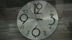 Clock. Natural lighting. Stock Footage