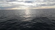 Stock Video Footage of Ocean at sunset from boat