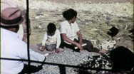 Native American Family Harvests Corn Circa 1965 (Vintage Film Footage) 1538 Stock Footage