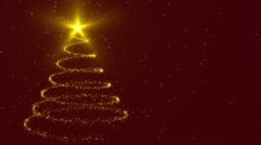 Christmas tree gold Stock Footage