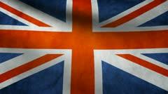 United Kingdom flag. Stock Footage