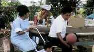 Stock Video Footage of Native American Indian Community Picnic Circa 1955 (Vintage Film) 1542