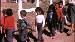Native American Indian School Children RESERVATION 1960s Vintage Film Movie 1539 - stock footage