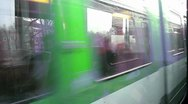 Stock Video Footage of Train Ride Hannover Germany