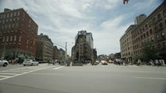 Wide angle shot of the Meat packing district and Chelsea in New York Stock Footage