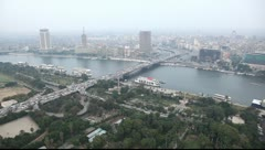 Aerial view on the Cairo city Stock Footage