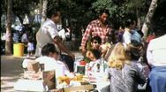 Stock Video Footage of American Indian Community Picnic Circa 1965 (Vintage Film Home Movie) 1541