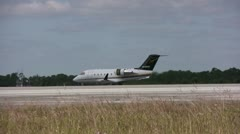 Business jet on tarmac Stock Footage