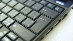Typing Enter Key On Laptop Stock Footage