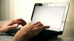 Typing Text On Computer Stock Footage
